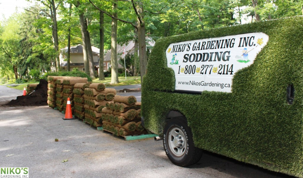 Niko's Sodding van and Turd Sod rolls