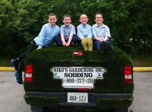 Kids on our grasstruck