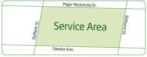 Niko's Lawn Maintenance Service Area