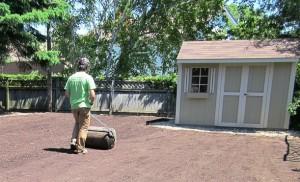 Soil grading for Sodding