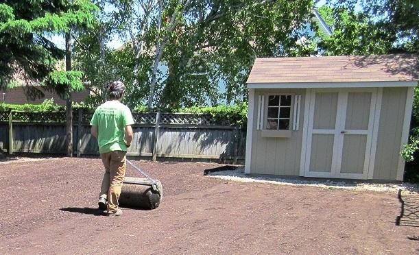 Sodding step two niko 39 s sodding lawn maintenance for Soil grading