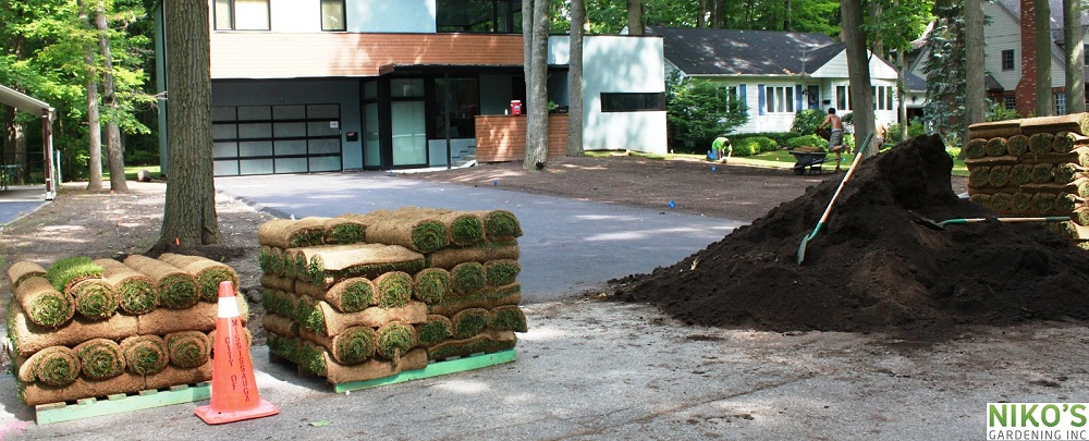 Grow Max and Fresh Sod for the lawn installation in Mississauga