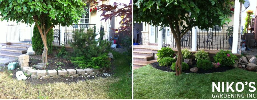 flowerbed work