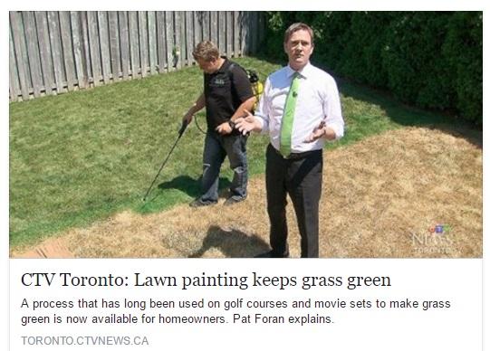 Niko's Gardening Inc. Lawn Painting CTVNews